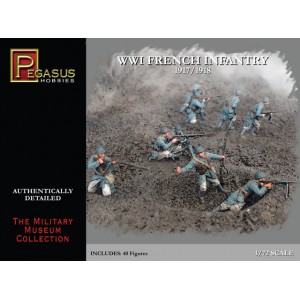 Pegasus 1/72 French Infantry WWI