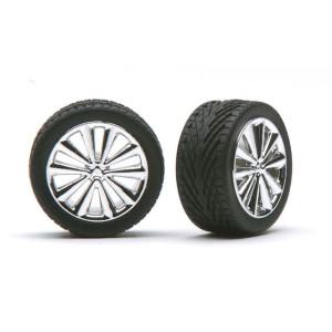 """Pegasus 1/24 """"Bella's"""" Rims W/Tires Chrome"""