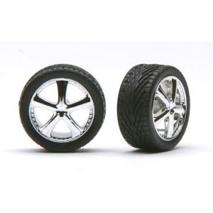 """Pegasus 1/24 """"Belagio's"""" Rims W/Tires Chrome"""