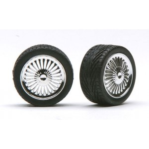 "Pegasus 1/24 ""Apollo's"" Rims W/Tires Chrome"