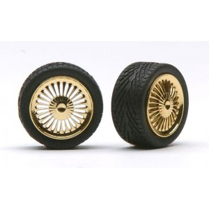 "Pegasus 1/24 ""Apollos"" Rims W/Tires Gold"