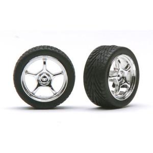 "Pegasus 1/24 ""Alta&'s"" 19"" Rims W/Tires Chrome"