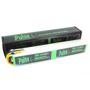 PULSE 5000mAh 12S 44.4V 45C Stick Version - LiPo Battery