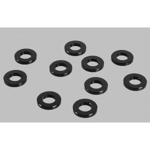 RC4WD 1mm Black Spacer with M3 Hole (10)