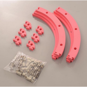 RCP Tracks 30CM Turn Rails-SETR-33030-01 - Mini-Z Track