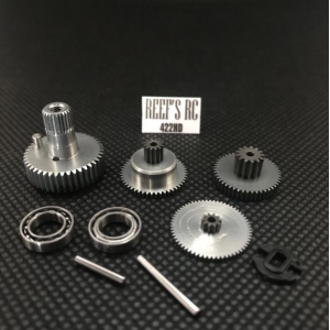 Reef's RC 422 Servo Gear Set, w/ Dual Bearings