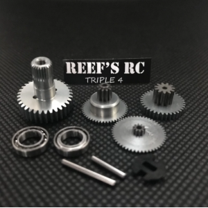 Reef's RC 444 Servo Gear Set, w/ Dual Bearings