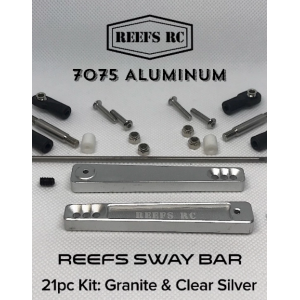 Reef's RC 7075 Hard Anodized Aluminum Sway Bar Kit - Silver (21pcs)