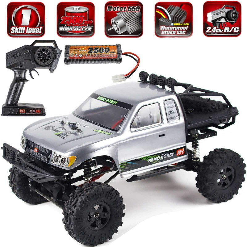 Remo Hobby Rock Crawler 1/10 4WD RC Monster Truck Off-Road Brushed RC Car 1093-ST