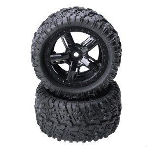 2PCS REMO HOBBY 1/16 P6973 Rubber Tires Assembly For Desert Buggy Truck Rc Car Parts