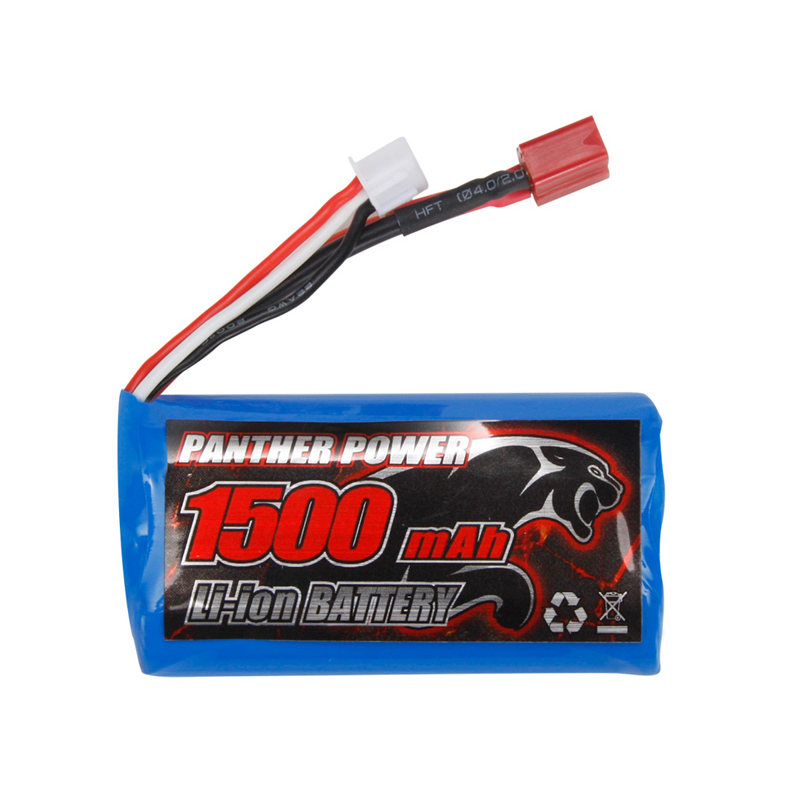 Remo Hobby 7.4V 1500mAh Li-ion Battery E9315 T-Plug 1/16 RC Car Part For Short Course, Monster Truck, Buggy