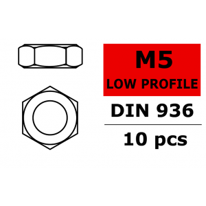 Team Corally - Low Profile Nut - M5 - 10 pcs