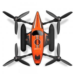 Aeroamphibious 3-In-1 RC Drone, Land Air And Water Quadcopter (Orange)