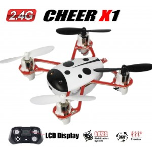 CHEER X1 2.4G 4CH 6-Axis GYRO Remote Control Nano RC Quadcopter UFO Drone