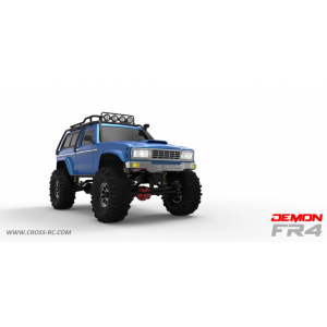 Cross RC FR4C 1/10 Demon 4x4 Crawler Kit-Lexan SUV Body Full Metal, CNC Rims