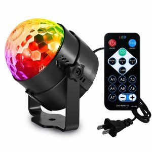 Disco Ball Strobe Party Lights DJ Lighting RBG Lamp 7 Modes with Remote Control