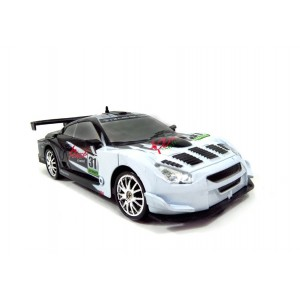 Drift King R/C Drifting Sports Car Super Fast 1/24 Scale Black/White