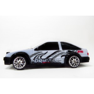 Drift King R/C Drifting Sports Car Super Fast 1/24 Scale C2411B Blk/Wht