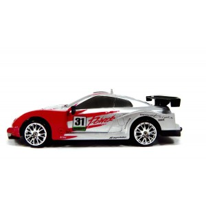 Drift King R/C Drifting Sports Car Super Fast 1/24 Scale Red/Silver
