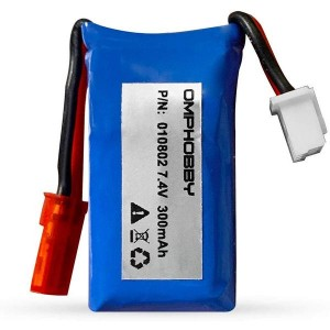 OMPHOBBY 7.4V 300mAh Lipo Airplane Battery S720 T720