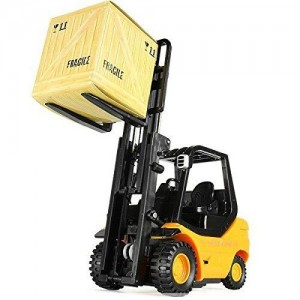 Double E Mini Forklift Industrial Construction Vehicle Remote Controlled 1/20 Scale