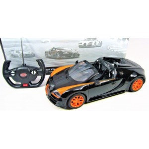 Rastar 1:14 RC Bugatti Veyron Grand Sport Vitesse Licensed Model Car (Black/Orange)