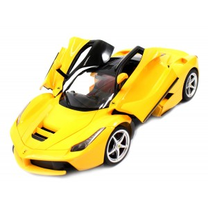 Rastar 1:14 RC LaFerrari Model RTR With Open Doors (Yellow)