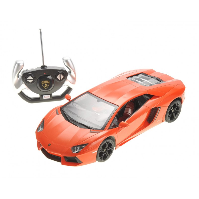 Working Lights Orange RASTAR RC Lamborghini Toy Car 1:14 Lamborghini Aventador LP700-4 Remote Control Car