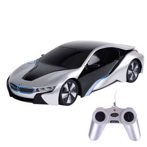 Rastar 1:24 RC BMW I8 Concept RC Sports Car (Silver)