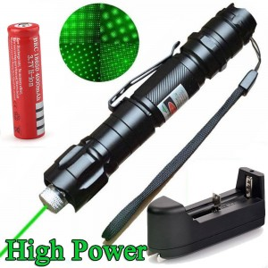 Military 10 Miles 532nm Green Laser Pointer Pen Visible Beam Star Cap + Battery
